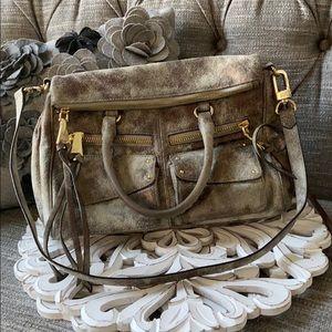 Aimee Kestenberg Leather Fold Over Purse Handbag
